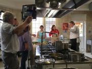 In Aktion in der Küche