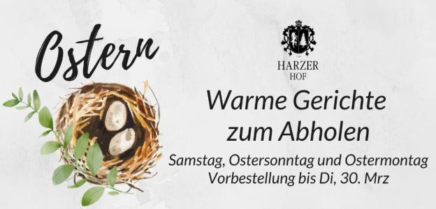 Ostern Außer Haus Karte Harzer Hof